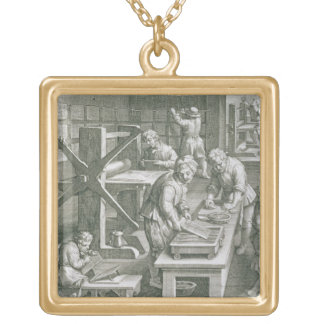 The Invention of Copper Engraving, plate 20 from ' Square Pendant Necklace