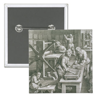 The Invention of Copper Engraving, plate 20 from ' Pinback Button