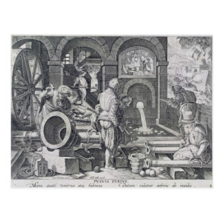 The Invention of Gunpowder Postcard