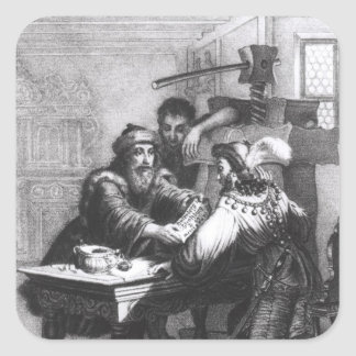 The Invention of Printing, 1827 Square Sticker