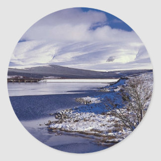 The Inverness to Ullapool, called the Dirrie More, Classic Round Sticker