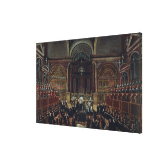 The Investiture of a Monarch in San Lorenzo (oil o Canvas Print