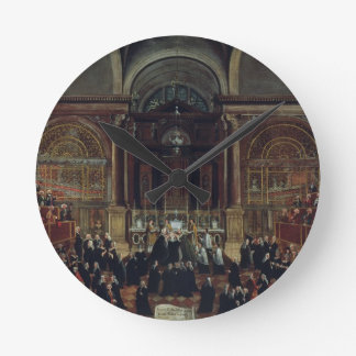 The Investiture of a Monarch in San Lorenzo (oil o Round Wallclock