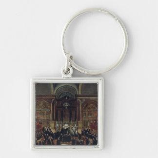 The Investiture of a Monarch in San Lorenzo (oil o Silver-Colored Square Keychain