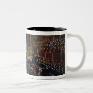 The Investiture of a Monarch in San Lorenzo (oil o Two-Tone Coffee Mug