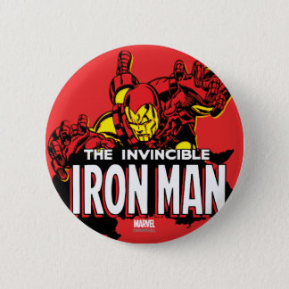 The Invincible Iron Man Graphic Button