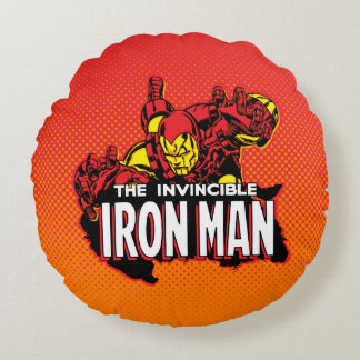 The Invincible Iron Man Graphic Round Pillow
