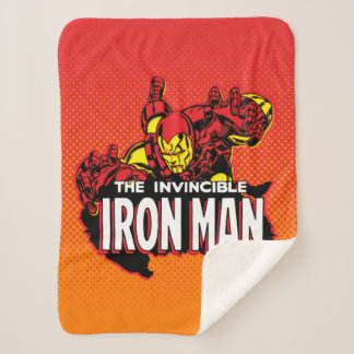 The Invincible Iron Man Graphic Sherpa Blanket