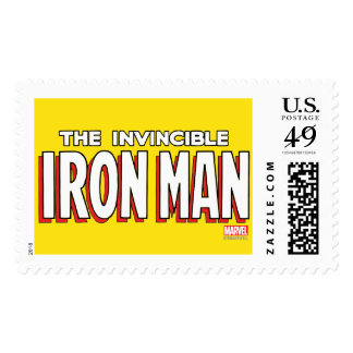 The Invincible Iron Man Logo Postage