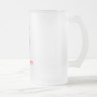 THE INVINCIBLE KNFER 16 OZ FROSTED GLASS BEER MUG
