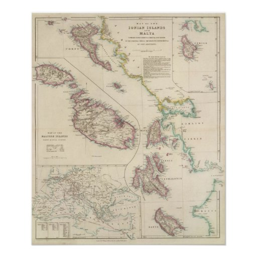 The Ionian Islands and Malta Poster