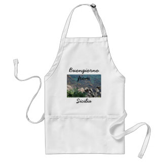 The Ionian Sea from Aci Castello Sicliy Adult Apron