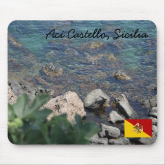 The Ionian Sea from Aci Castello Sicliy Mouse Pads