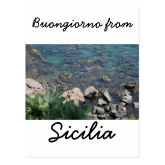 The Ionian Sea from Aci Castello Sicliy Postcard