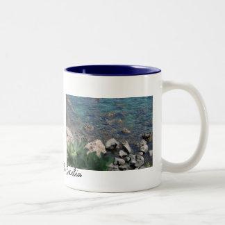 The Ionian Sea from Aci Castello Sicliy Two-Tone Coffee Mug