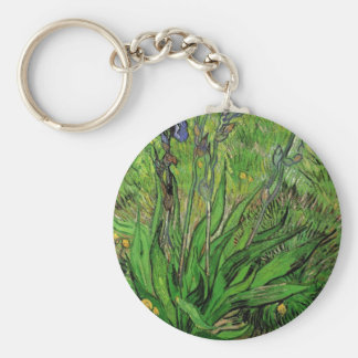 The Iris by Vincent van Gogh Keychains