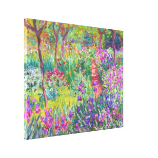 The Iris Garden at Giverny Claude Monet cool, old, Canvas Print