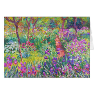 The Iris Garden at Giverny Claude Monet cool, old, Stationery Note Card