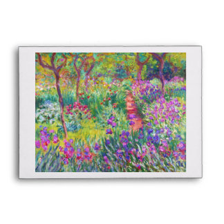 The Iris Garden at Giverny Claude Monet cool, old, Envelope