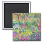 The Iris Garden at Giverny Claude Monet cool, old, Fridge Magnet