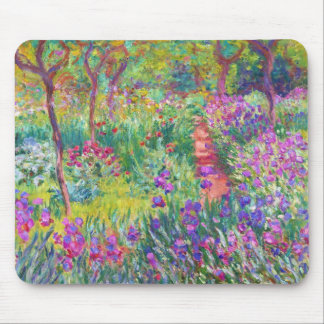 The Iris Garden at Giverny Claude Monet cool, old, Mouse Pad