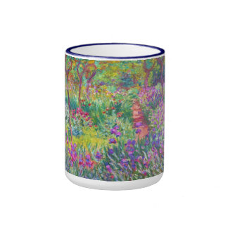 The Iris Garden at Giverny Claude Monet cool, old, Ringer Coffee Mug