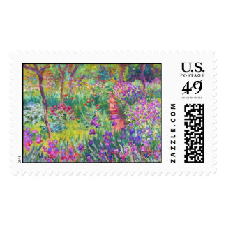 The Iris Garden at Giverny Claude Monet cool, old, Stamp