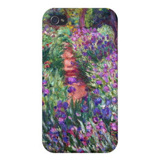 The Iris Garden at Giverny, Claude Monet Covers For iPhone 4