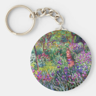 The Iris Garden at Giverny, Claude Monet Keychain