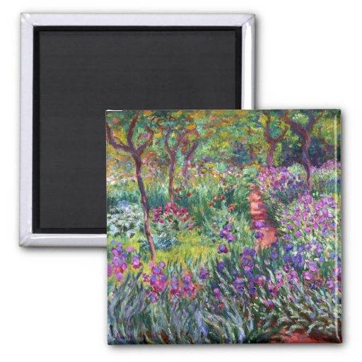 The Iris Garden at Giverny, Claude Monet Refrigerator Magnet