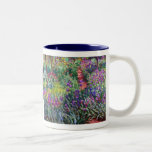 The Iris Garden at Giverny, Claude Monet Two-Tone Coffee Mug