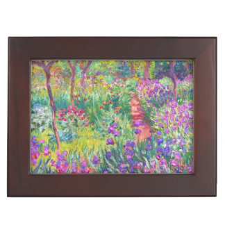 The Iris Garden at Giverny Claude Monet painting Memory Box