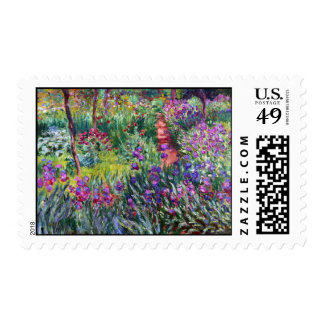 The Iris Garden at Giverny Claude Monet Postage Stamp