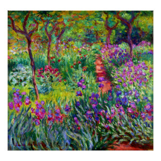 The Iris Garden at Giverny Fine Art Poster
