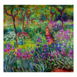 The Iris Garden at Giverny Fine Art Poster Poster
