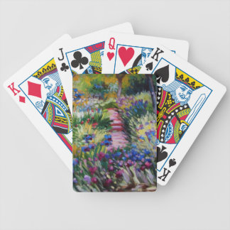 The Iris Garden by Claude Monet Bicycle Playing Cards