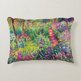 The Iris Garden by Claude Monet Decorative Pillow
