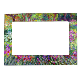 The Iris Garden by Claude Monet Magnetic Picture Frame