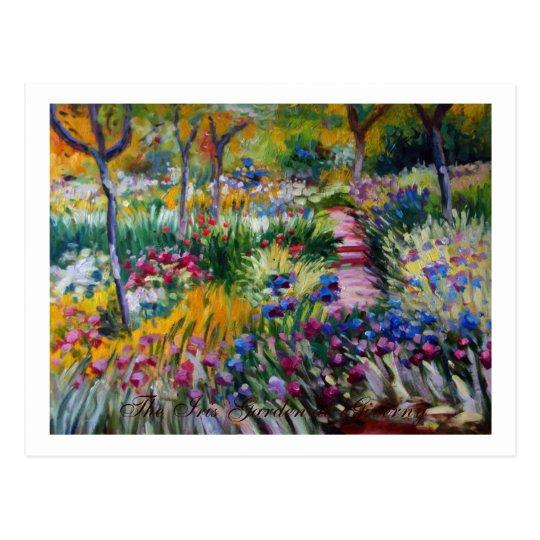 The Iris Garden by Claude Monet Postcard