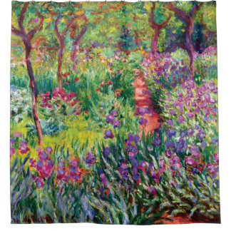 The Iris Garden by Claude Monet Shower Curtain