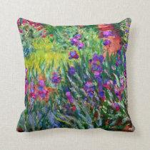 The Iris Garden in Giverny Claude Monet Fine Art Throw Pillow