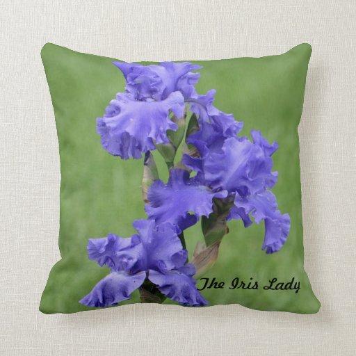 The Iris Lady Throw Pillows