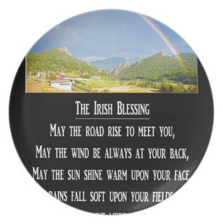 The Irish Blessing Dinner Plate