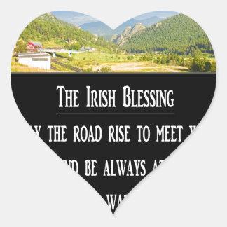 The Irish Blessing Heart Sticker