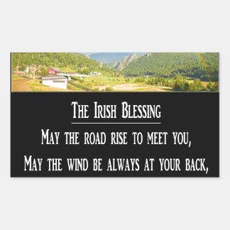 The Irish Blessing Rectangular Sticker
