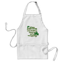 The Irish Eyes Joke on fun Irish Aprons
