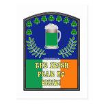 The Irish Feer No Beer Postcard