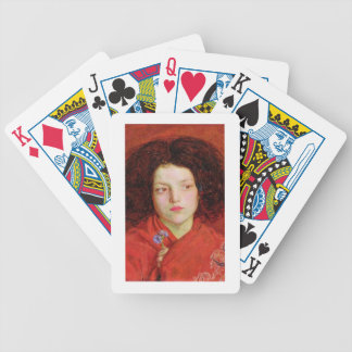 The Irish Girl, 1860 (oil on canvas laid down on b Bicycle Playing Cards