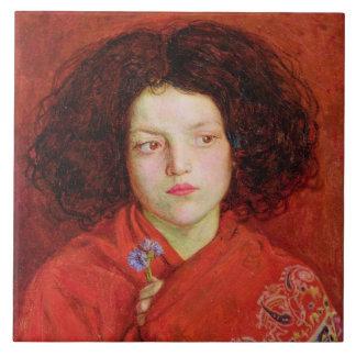 The Irish Girl, 1860 (oil on canvas laid down on b Ceramic Tile