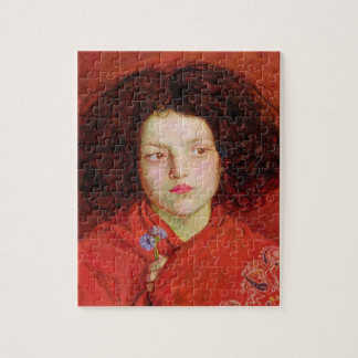 The Irish Girl, 1860 (oil on canvas laid down on b Jigsaw Puzzle